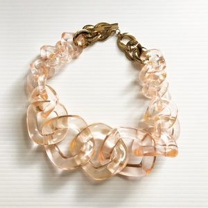 Anthropologie chunky lucite link necklace NWT